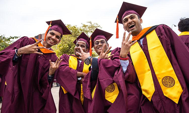 A group of ASU graduates