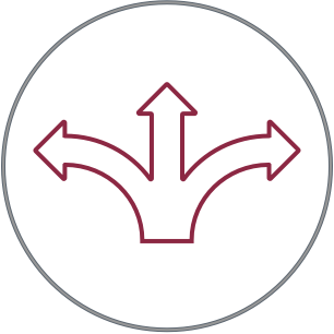 icon of an arrow pointing in three directions