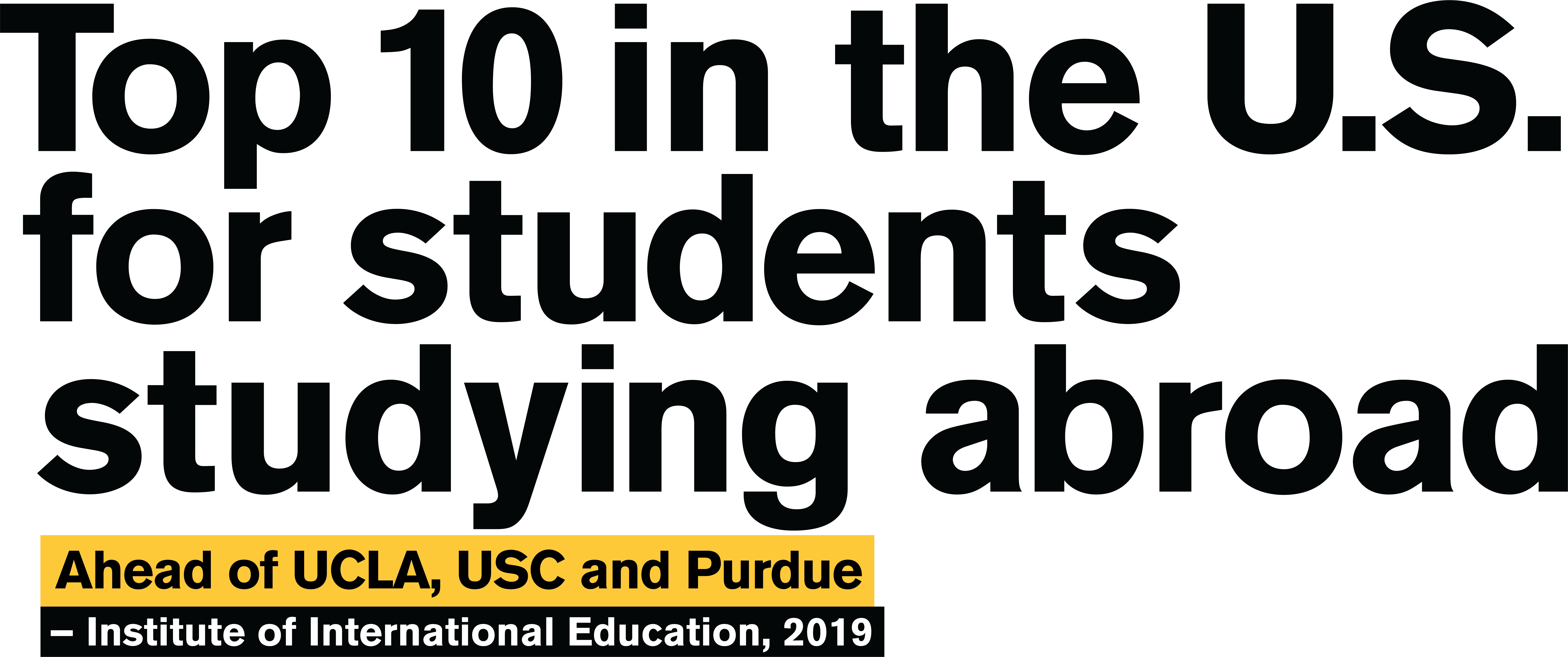 ASU Ranking Top 10 in the U.S. for Studying Abroad